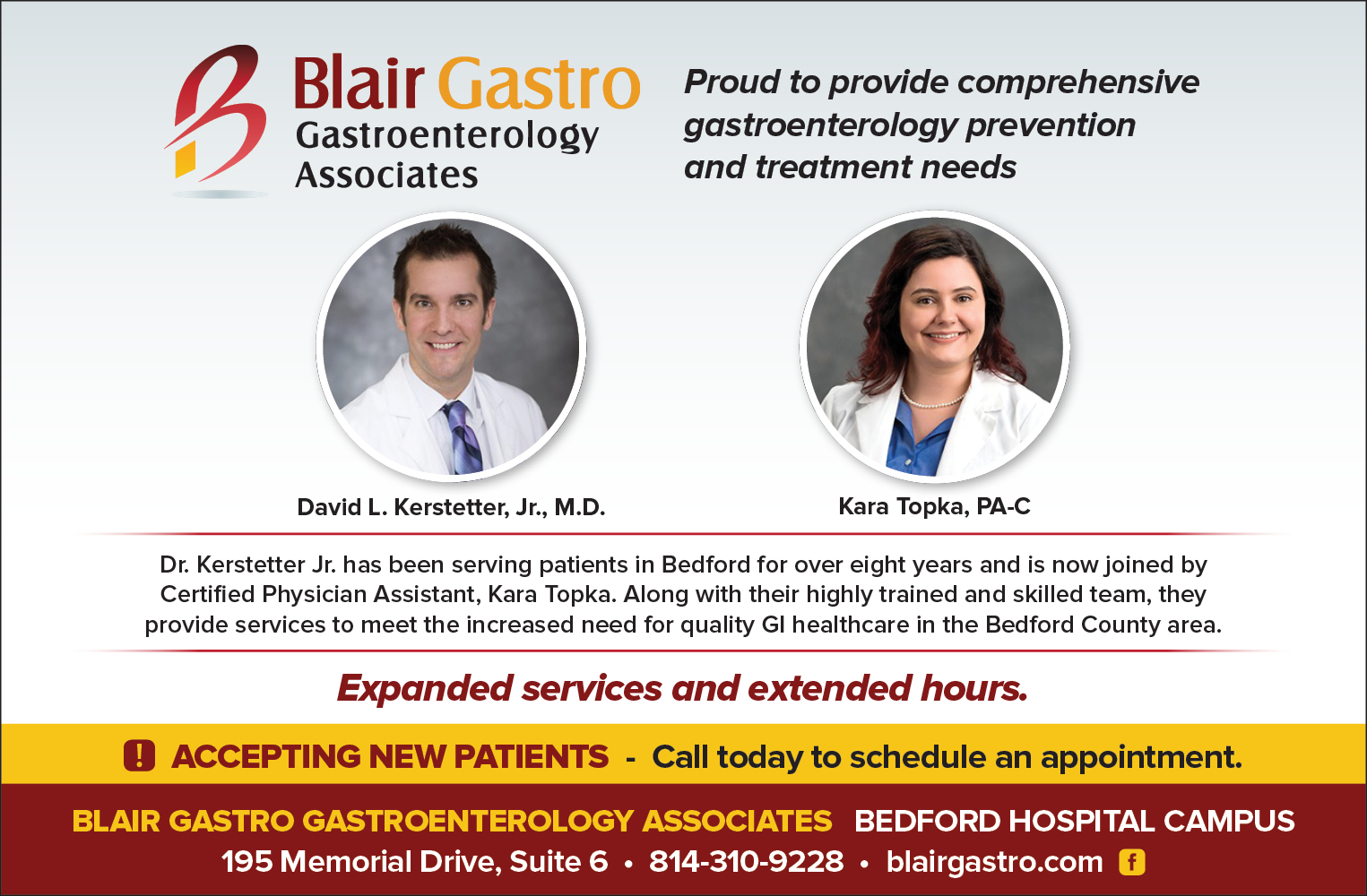 Dr. David Kerstetter, Jr. has been serving patients in Bedford for over eight years.